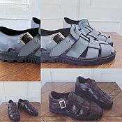 Slingbacks handmade. Livemaster - original item Sandals for men. Handmade.