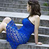 Одежда ручной работы. Ярмарка Мастеров - ручная работа Платье юбка 2 в 1 вязаное платье вязаная юбка вязаная пляжная одежда. Handmade.