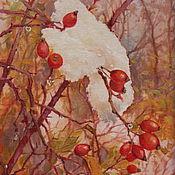 """Картины и панно ручной работы. Ярмарка Мастеров - ручная работа Картина маслом, """"В лес за шиповником"""". Handmade."""