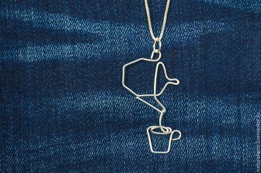 Кулоны, подвески ручной работы. Ярмарка Мастеров - ручная работа. Купить Кулон серебряный Чайная коллекция. Handmade. wire wrap