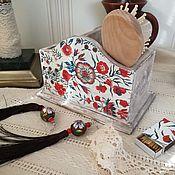 """Канцелярские товары handmade. Livemaster - original item Карандашница подставка для расчесок """"Индийский мотив"""". Handmade."""