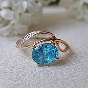 Украшения handmade. Livemaster - original item Ring with Swarovski cubic Zirconia. Gold 585.. Handmade.