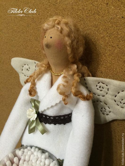 """Куклы Тильды ручной работы. Ярмарка Мастеров - ручная работа. Купить Тильда: Хранительница ватных дисков и палочек """"Золотко"""". Handmade."""