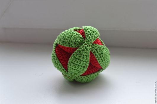 Развивающие игрушки ручной работы. Ярмарка Мастеров - ручная работа. Купить Мяч-пазл. Развивающая игрушка для детей и взрослых.. Handmade.