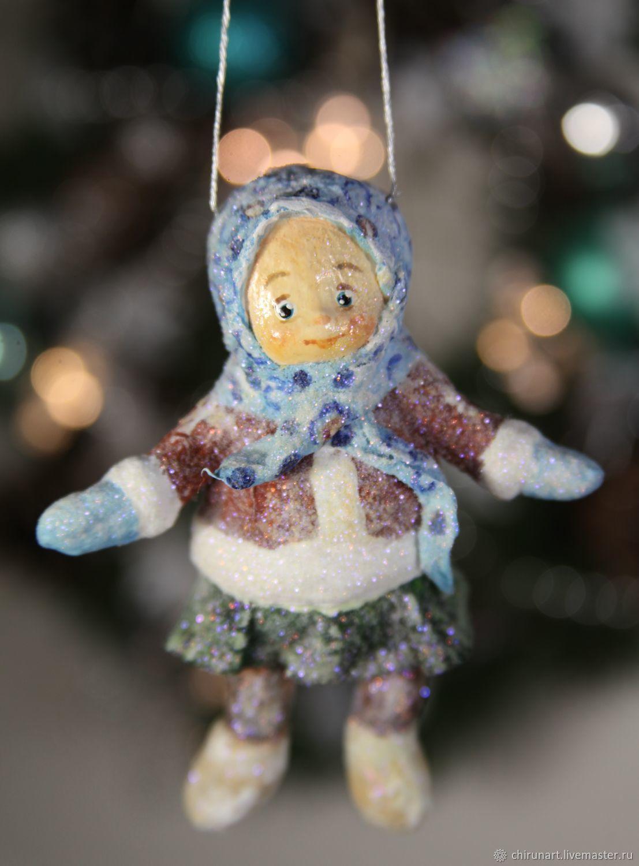 """Елочная игрушка """"Девочка"""" 10см, Новый год 2019, Яхрома, Фото №1"""