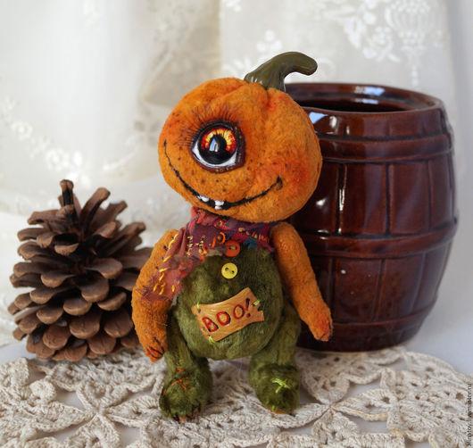 Мишки Тедди ручной работы. Ярмарка Мастеров - ручная работа. Купить Скэри-Бу  Хэллоуинн,  монстрик- тыковка. Handmade.
