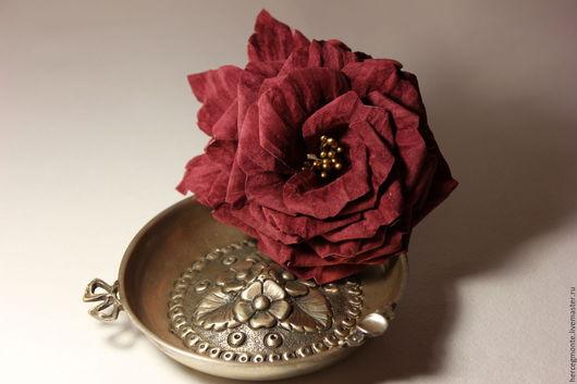 """Заколки ручной работы. Ярмарка Мастеров - ручная работа. Купить Брошь-заколка """"Dame de Coeur"""". Handmade. Розовый"""