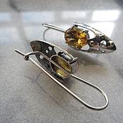 Украшения ручной работы. Ярмарка Мастеров - ручная работа серьги серебряные с цитрином. Handmade.