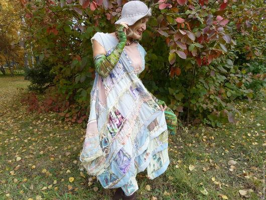 Платья ручной работы. Ярмарка Мастеров - ручная работа. Купить Карамельная  Осень. Handmade. Бежевый, шёлк