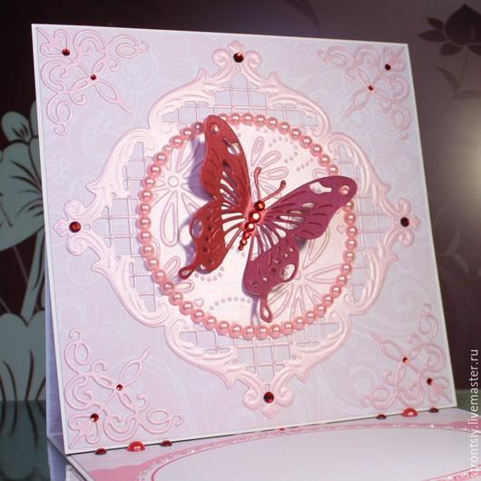 Открытка ручной работы `Линия Butterfly`