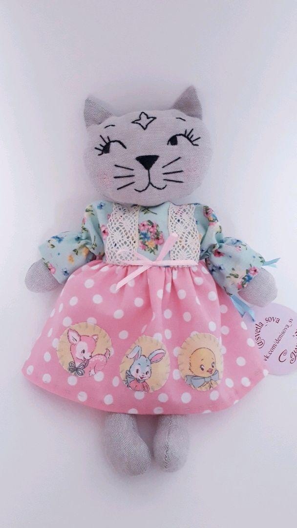 Кошка льняная 2, Мягкие игрушки, Самара,  Фото №1