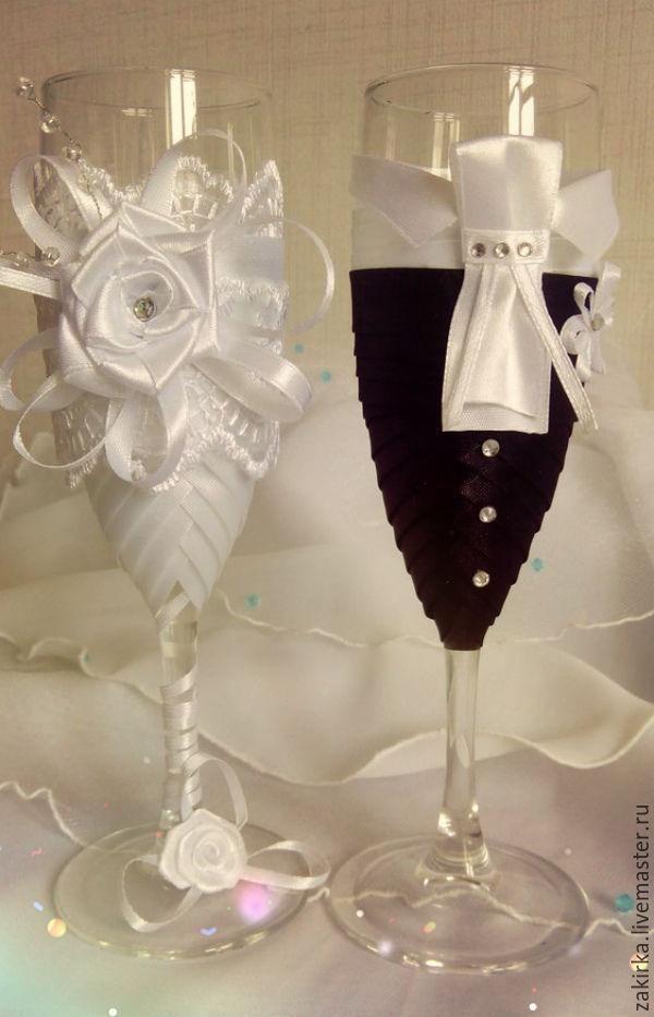 Фужеры жених и невеста на свадьбу своими руками мастер класс фото 87