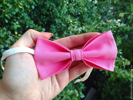 Галстуки, бабочки ручной работы. Ярмарка Мастеров - ручная работа. Купить Бабочка-галстук. Handmade. Розовый, бабочка-галстук