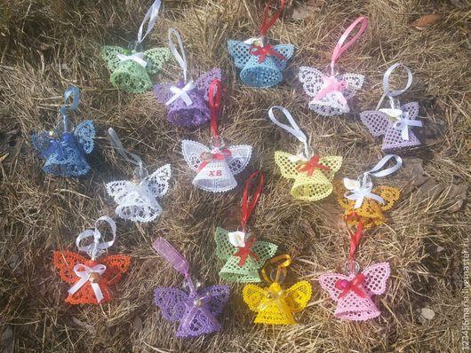 Подвески ручной работы. Ярмарка Мастеров - ручная работа. Купить Ангелочки кружевные, меланжевые и цветные. Handmade. Кружевные ангелы