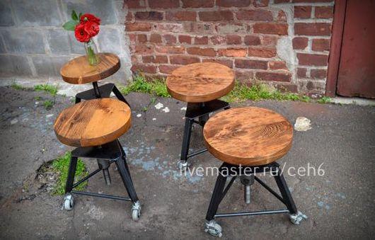 Мебель ручной работы. Ярмарка Мастеров - ручная работа. Купить Табуреты на колесах. Handmade. Табуретка, стул, лофт, лофт мебель