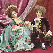 Куклы и игрушки ручной работы. Ярмарка Мастеров - ручная работа Антуанетта и Франсуа. Handmade.