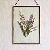Для дома и интерьера handmade. Livemaster - original item the herbarium in the glass. Herbarium of herbs. Heather. Handmade.