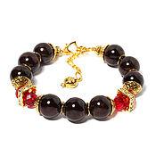Фен-шуй и эзотерика handmade. Livemaster - original item Bracelet made of natural stones garnet