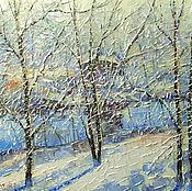 Картины и панно ручной работы. Ярмарка Мастеров - ручная работа Морозный день. Handmade.