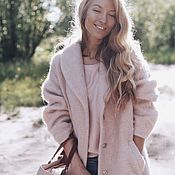 """Одежда ручной работы. Ярмарка Мастеров - ручная работа Лёгкое пальто """"Розовая пыль"""". Handmade."""