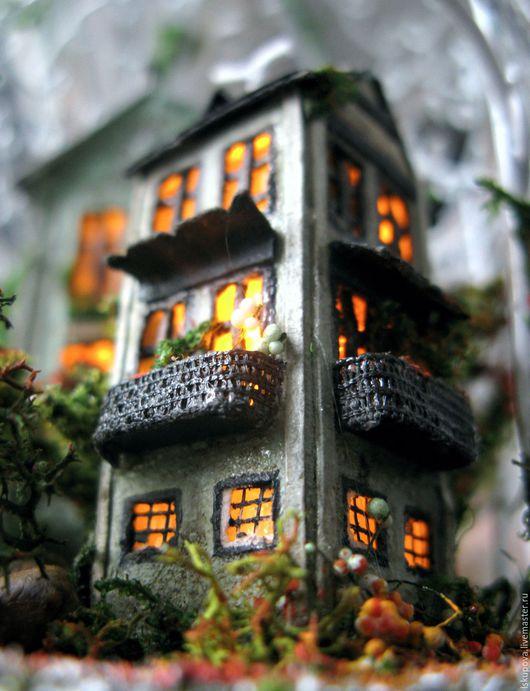 """Кукольный дом ручной работы. Ярмарка Мастеров - ручная работа. Купить """"Московских окон негасимый свет"""". Handmade. Комбинированный, дворик"""