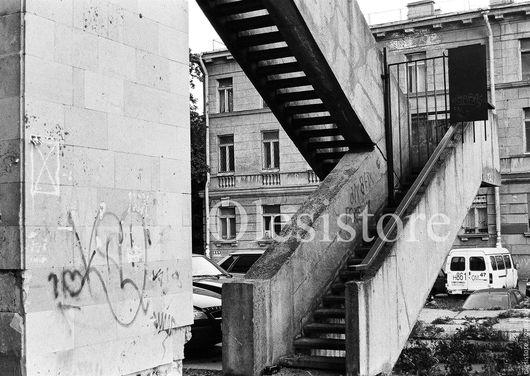 Открытка черно-белая Санкт-Петербург . Лицевая сторона