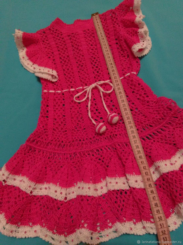 Платье летнее для девочки  фуксия  авторская работа