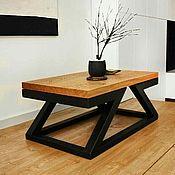 Мебель ручной работы. Ярмарка Мастеров - ручная работа Журнальный столик в стиле лофт. Handmade.