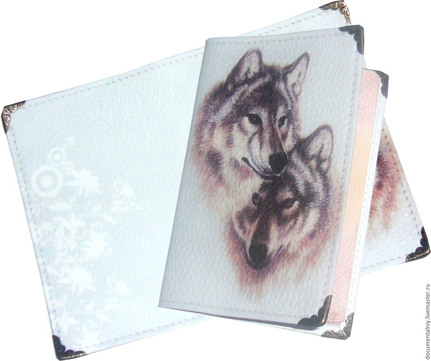 Passport cover for documents 'WOLVES', Cover, Obninsk,  Фото №1