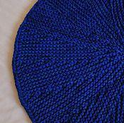 """Для дома и интерьера ручной работы. Ярмарка Мастеров - ручная работа вязаный коврик """"Кобальт"""" круглый. Handmade."""