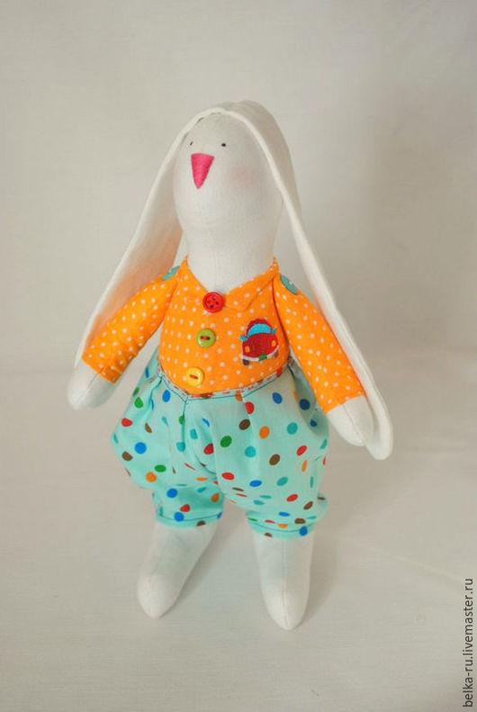 Куклы Тильды ручной работы. Ярмарка Мастеров - ручная работа. Купить Зайчишка-Мальчишка. Handmade. Комбинированный, заяц в одежде