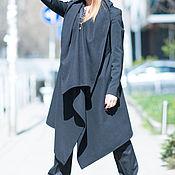 Одежда handmade. Livemaster - original item Black cashmere cardigan vest. Handmade.