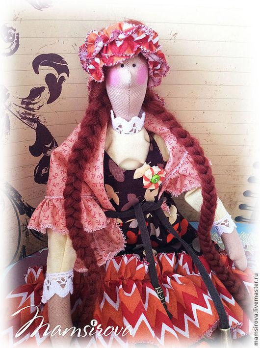 Куклы Тильды ручной работы. Ярмарка Мастеров - ручная работа. Купить Кукла Тильда-Серафима. Handmade. Коричневый, текстильная кукла
