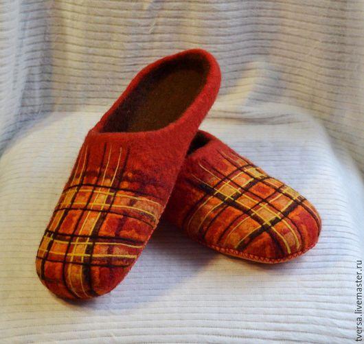 Обувь ручной работы. Ярмарка Мастеров - ручная работа. Купить Тапочки валяные  Гленна. Handmade. Тапочки, тапочки из войлока