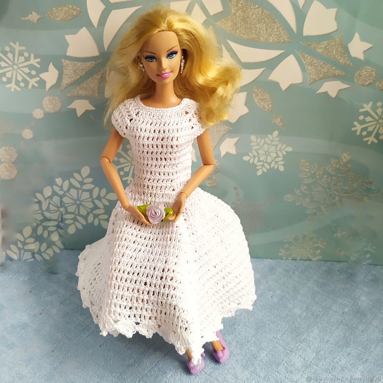 Белое платье для Барби Восторг, Одежда для кукол, Феодосия,  Фото №1