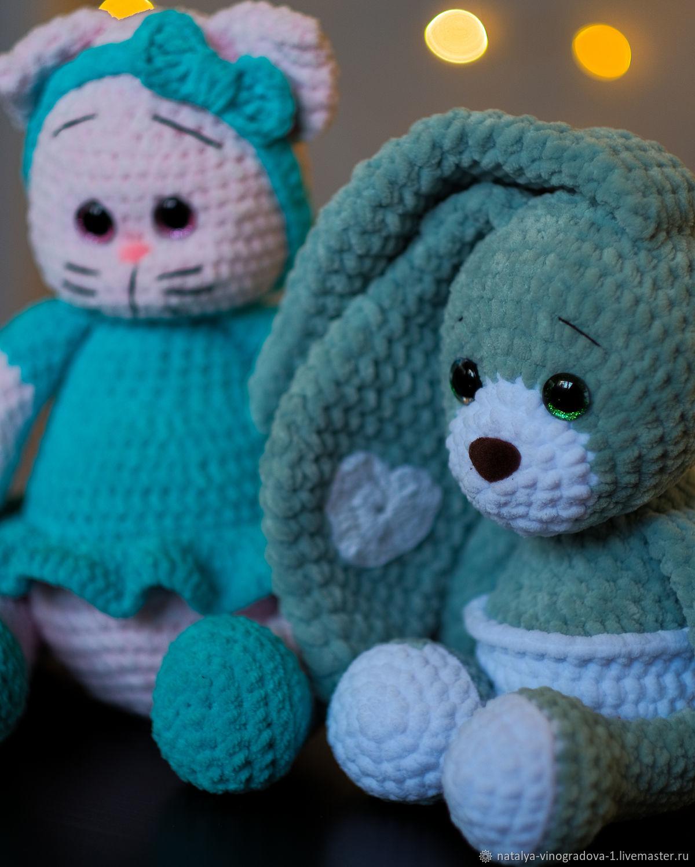 Плюшевая Кошечка. Плюшевый зайчик, Мягкие игрушки, Самара,  Фото №1