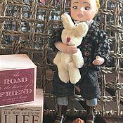Куклы и игрушки ручной работы. Ярмарка Мастеров - ручная работа Мальчик с зайкой. Handmade.