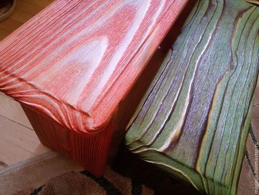 Мебель ручной работы. Ярмарка Мастеров - ручная работа. Купить Табурет-скамейка  цветная. Handmade. Табуретка