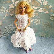 Одежда для кукол ручной работы. Ярмарка Мастеров - ручная работа Одежда для кукол: Белое платье для Барби Восторг. Handmade.
