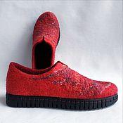 handmade. Livemaster - original item Felted Flamingo Shoes. Handmade.