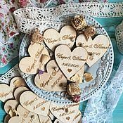 Подарки к праздникам ручной работы. Ярмарка Мастеров - ручная работа Магнит на свадьбу. Деревянный магнит. Handmade.