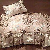 Куклы и игрушки handmade. Livemaster - original item Pillow and blanket for dolls and bears. Handmade.