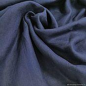Материалы для творчества handmade. Livemaster - original item Fabric: Linen cloth dark blue.. Handmade.