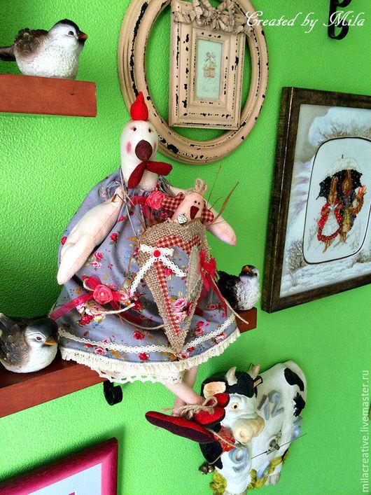 Игрушки животные, ручной работы. Ярмарка Мастеров - ручная работа. Купить Курочка Тильда с дитёнком. Handmade. Курица, интерьерная игрушка