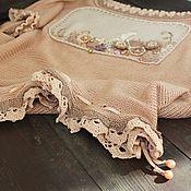 Одежда ручной работы. Ярмарка Мастеров - ручная работа Джемпер Пудра  бохо оверсайз. Handmade.