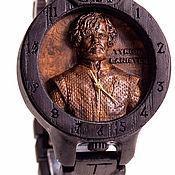 """Watches handmade. Livemaster - original item Часы Игра Престолов """"Тирион Ланистер"""" мореный дуб. Handmade."""
