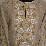 Блузки ручной работы. Ярмарка Мастеров - ручная работа Вышитая льняная блуза. Handmade.