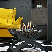 Для дома и интерьера handmade. Livemaster - original item Bio-fireplace floor Lounge dark grey. Handmade.