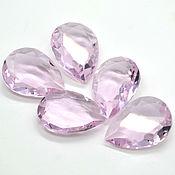 Стразы капля 25х18 мм прозрачный розовый
