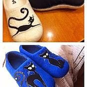 """Обувь ручной работы. Ярмарка Мастеров - ручная работа Тапочки """"Гламурные киски"""". Handmade."""